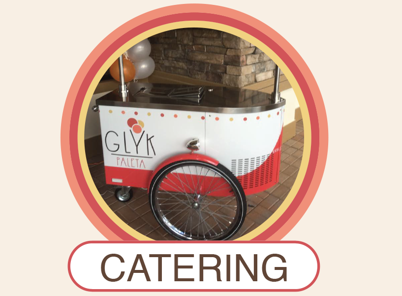 Gelato cart designed and made in Italy for catering parties and events
